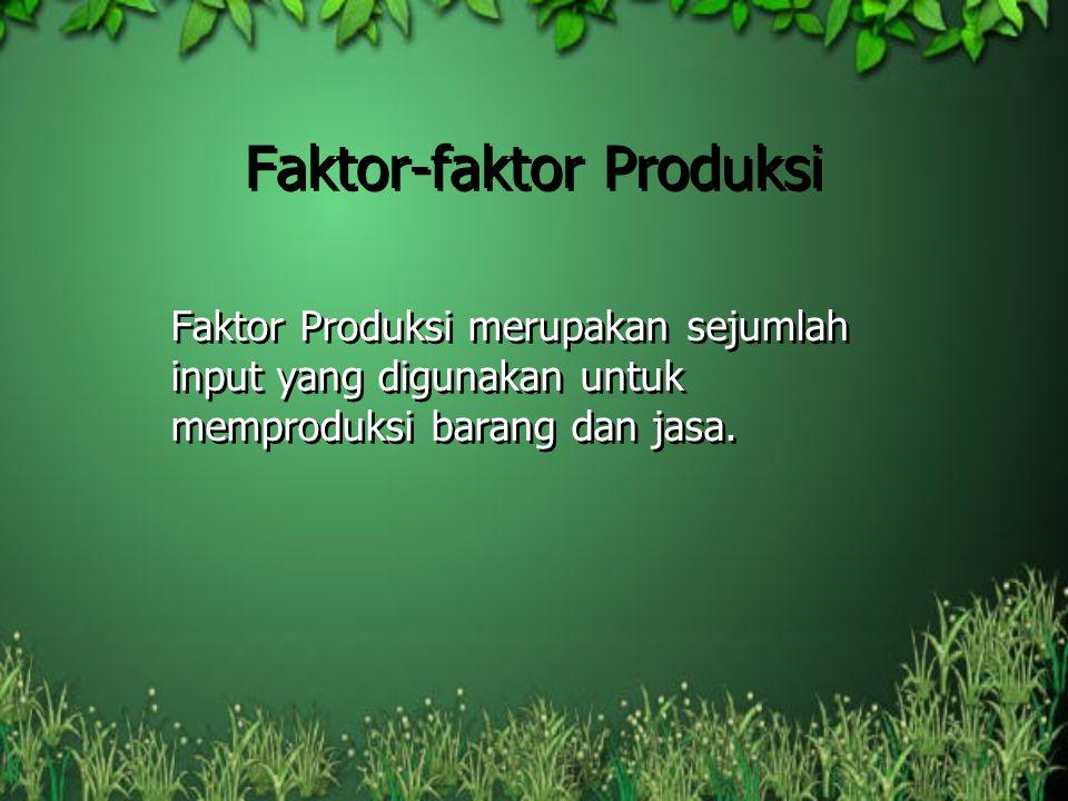 Faktor-faktor Produksi