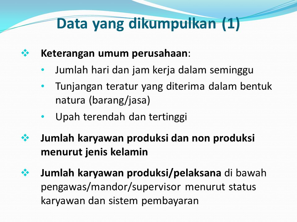 Data yang dikumpulkan (1)