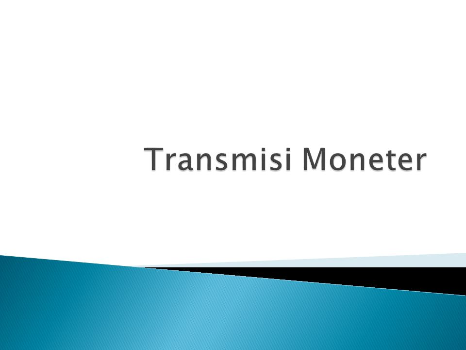 Transmisi Moneter