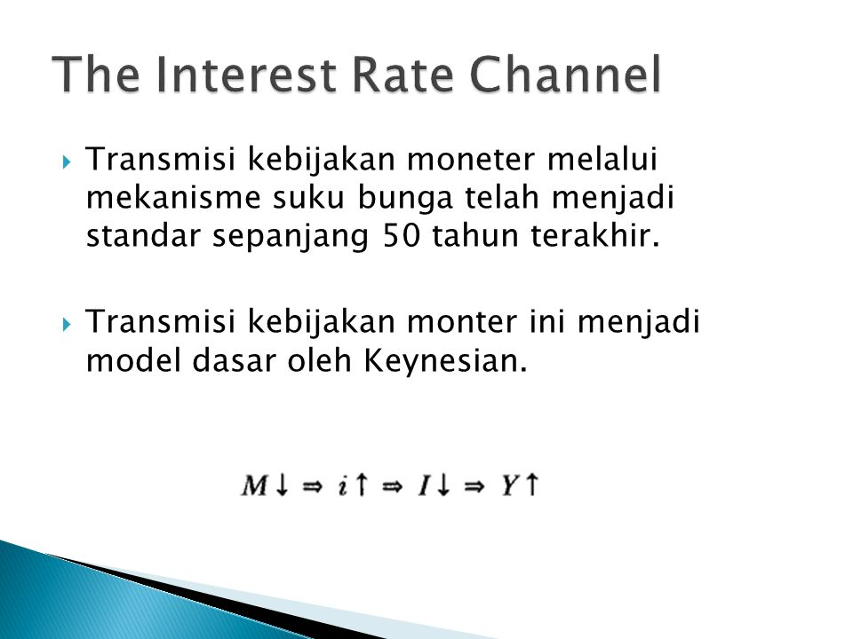 The Interest Rate Channel