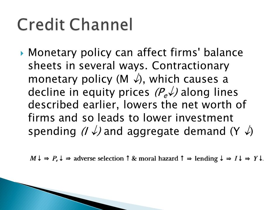 Credit Channel