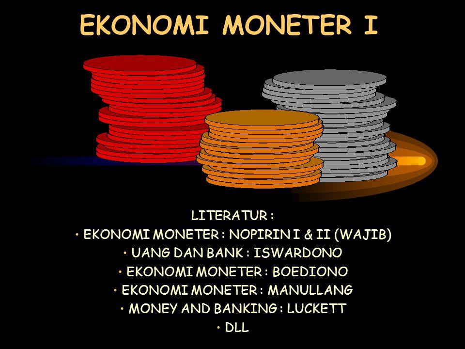 EKONOMI MONETER I LITERATUR : EKONOMI MONETER : NOPIRIN I & II (WAJIB)