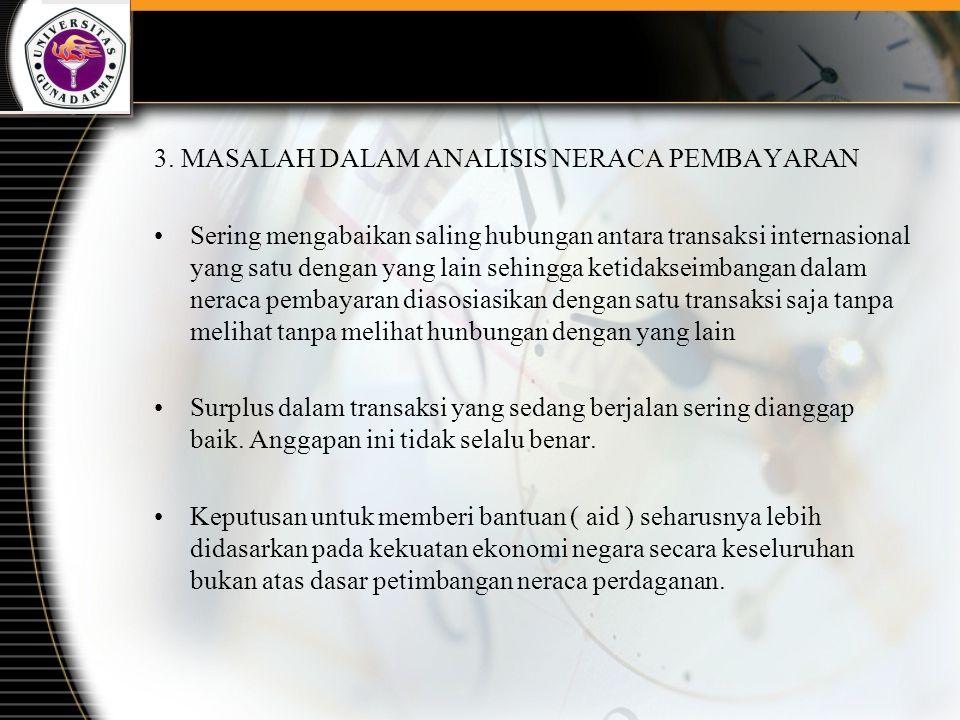 3. MASALAH DALAM ANALISIS NERACA PEMBAYARAN
