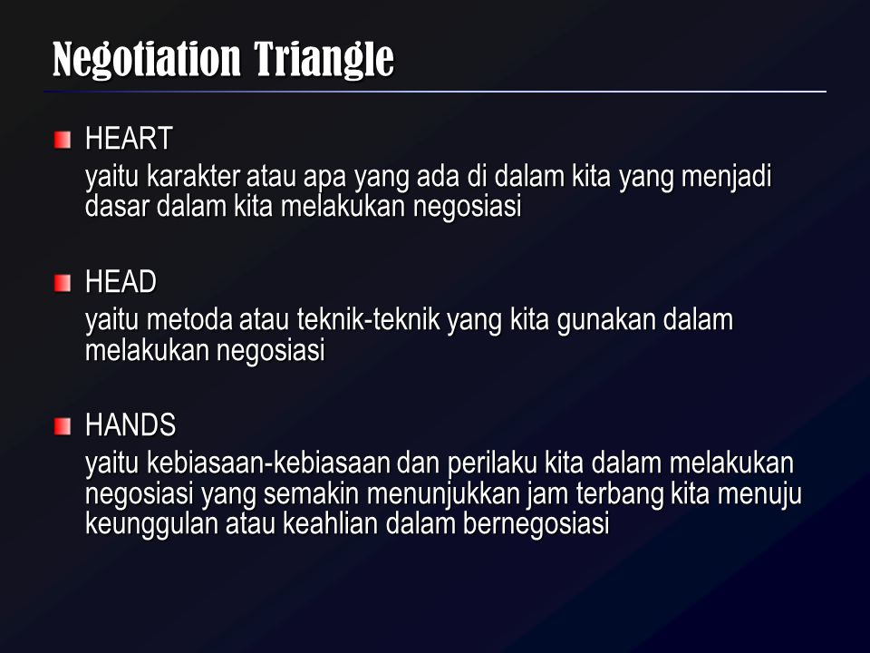 Negotiation Triangle HEART