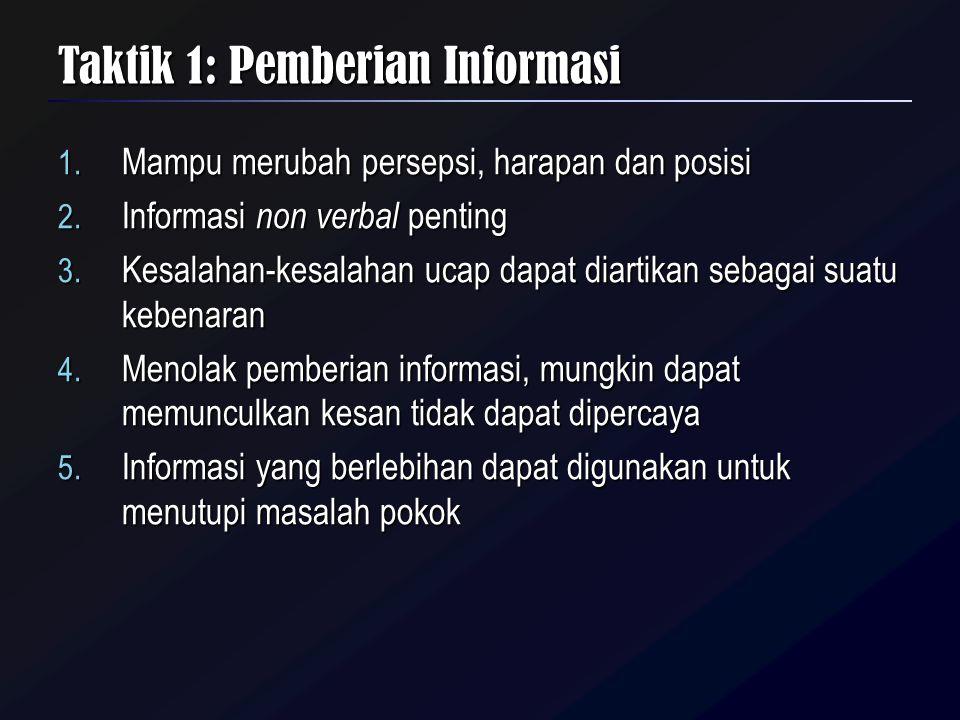 Taktik 1: Pemberian Informasi