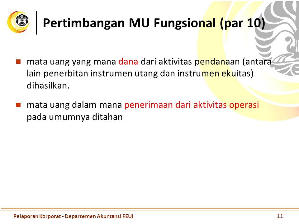 Pertimbangan MU Fungsional (par 10)