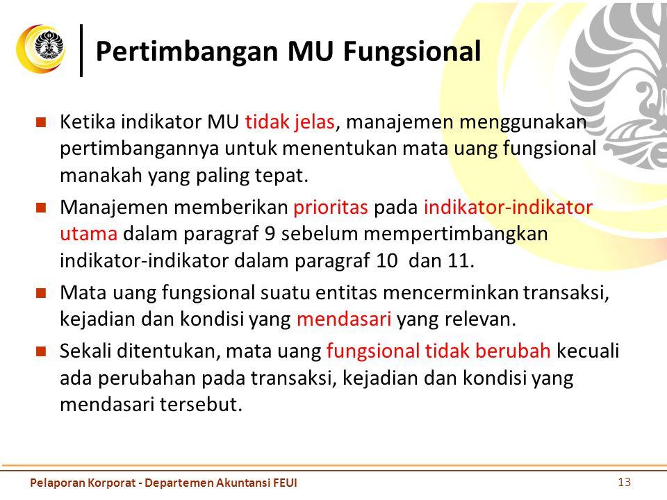 Pertimbangan MU Fungsional