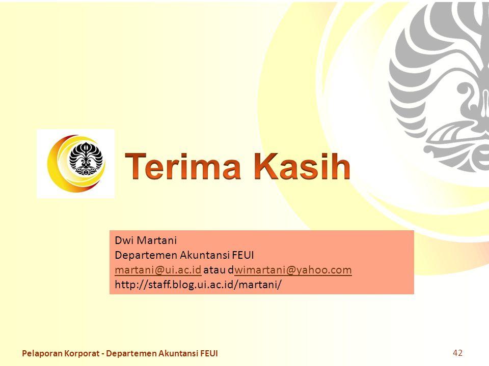 Terima Kasih Dwi Martani Departemen Akuntansi FEUI