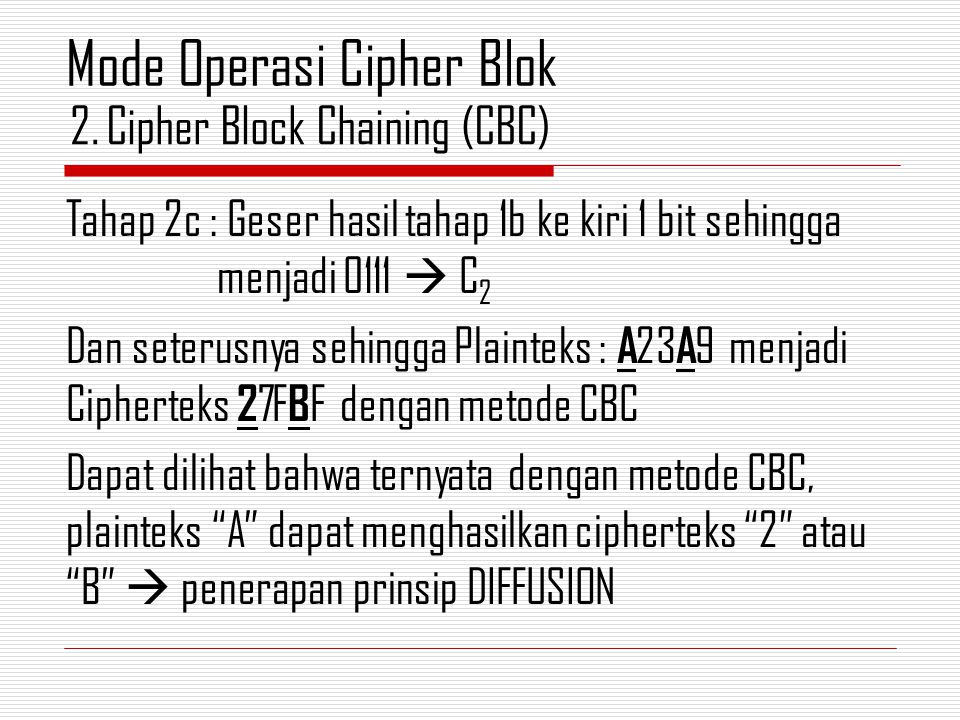Cipher Block Chaining (CBC)