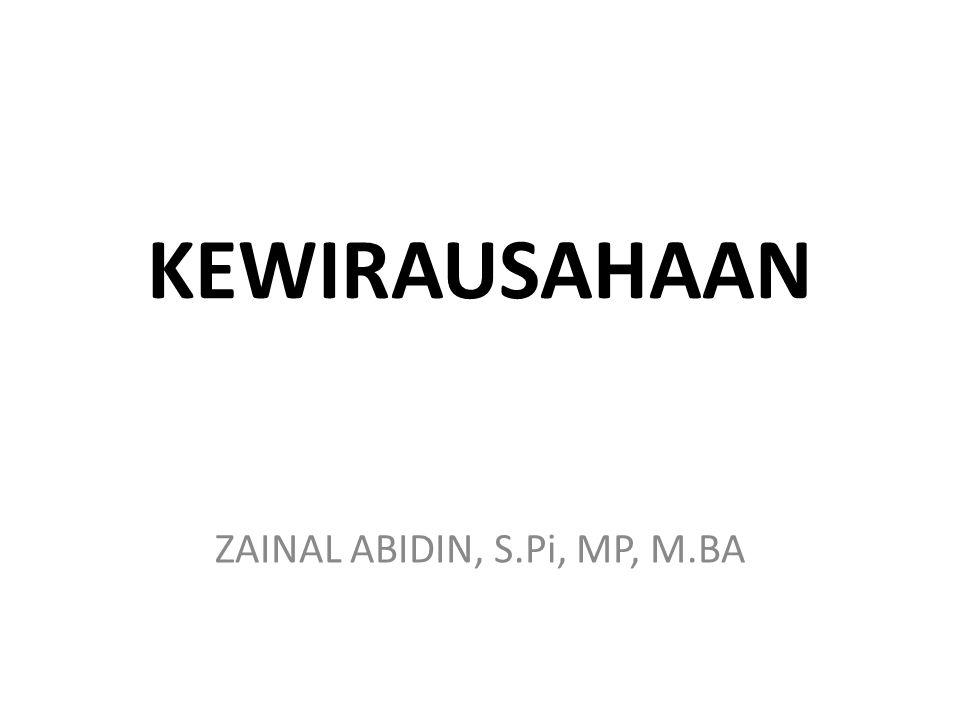 ZAINAL ABIDIN, S.Pi, MP, M.BA