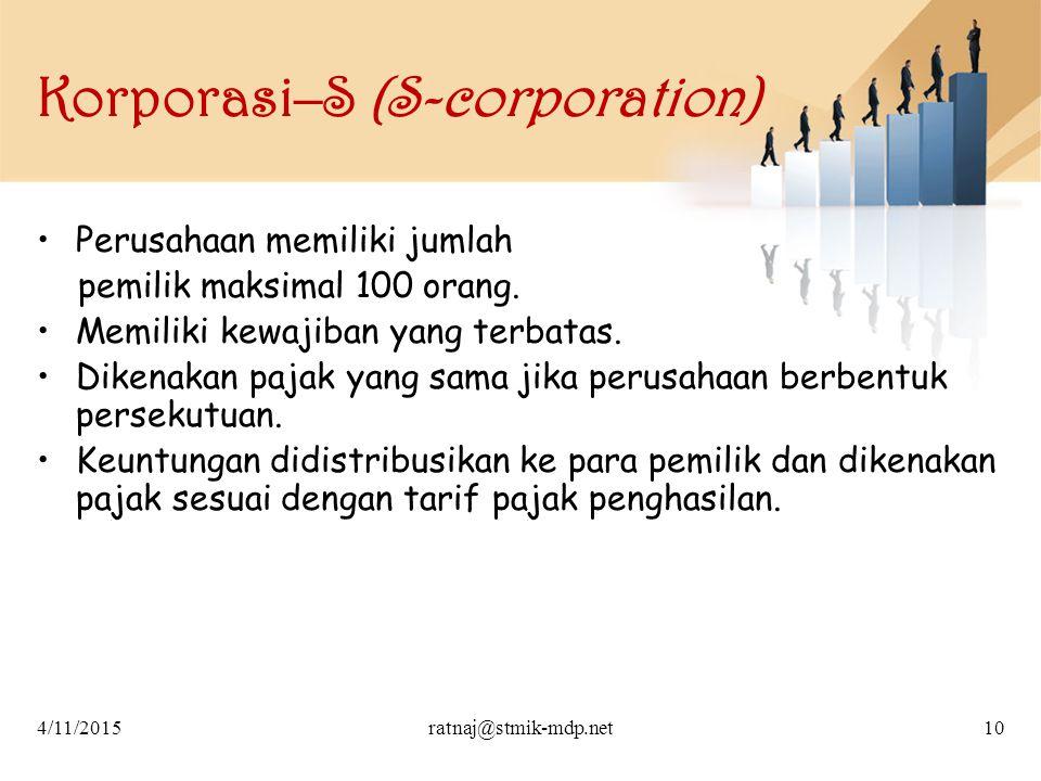 Korporasi–S (S-corporation)