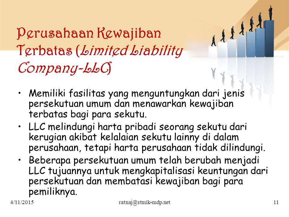 Perusahaan Kewajiban Terbatas (Limited Liability Company-LLC)