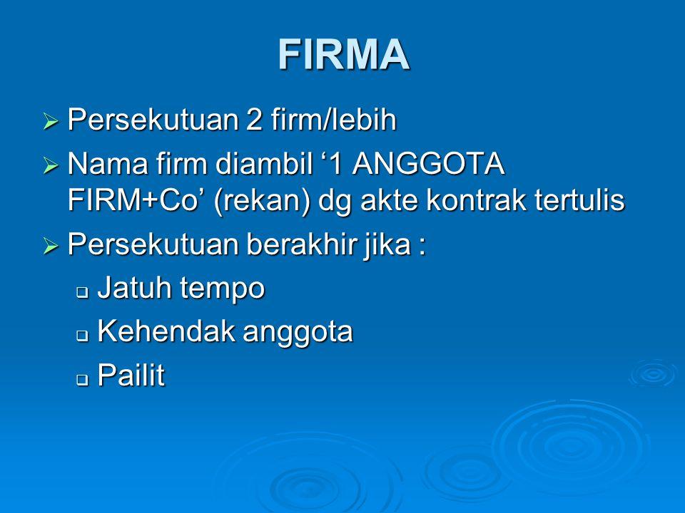 FIRMA Persekutuan 2 firm/lebih
