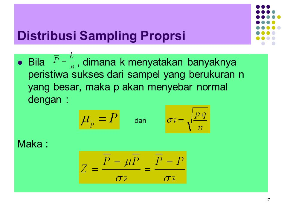 Distribusi Sampling Proprsi