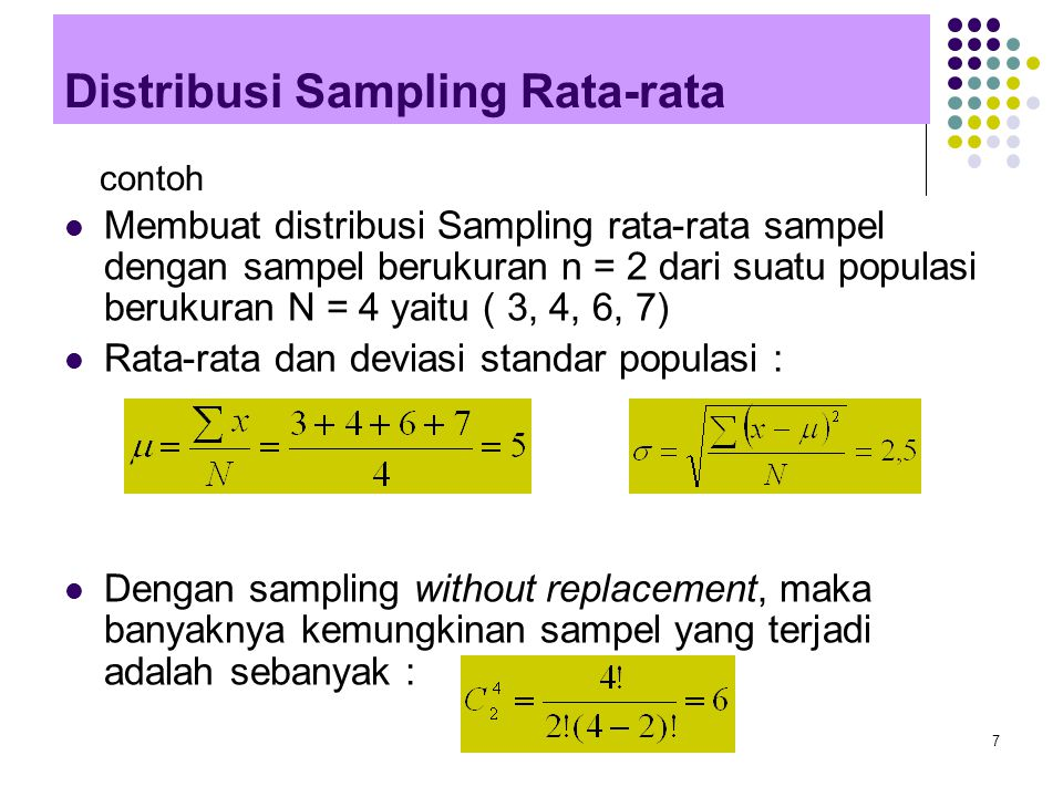 Distribusi Sampling Rata-rata