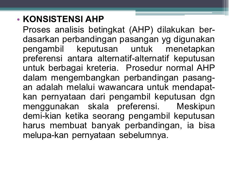 KONSISTENSI AHP