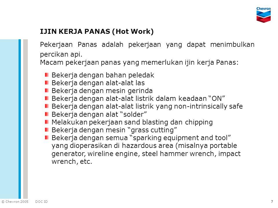IJIN KERJA PANAS (Hot Work)