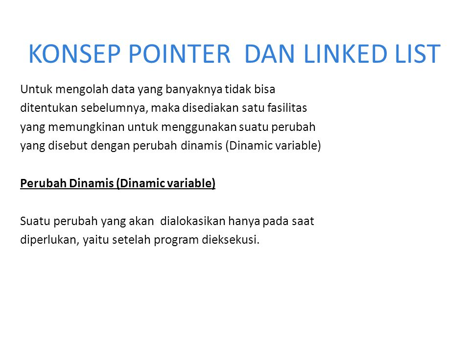 KONSEP POINTER DAN LINKED LIST