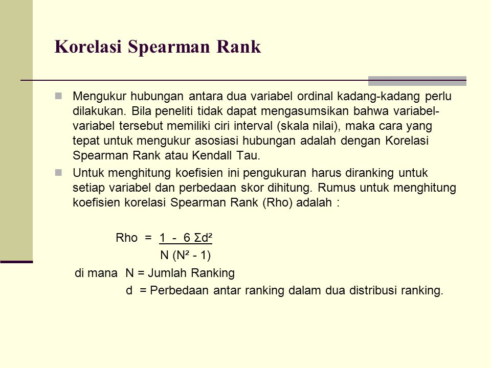 Korelasi Spearman Rank