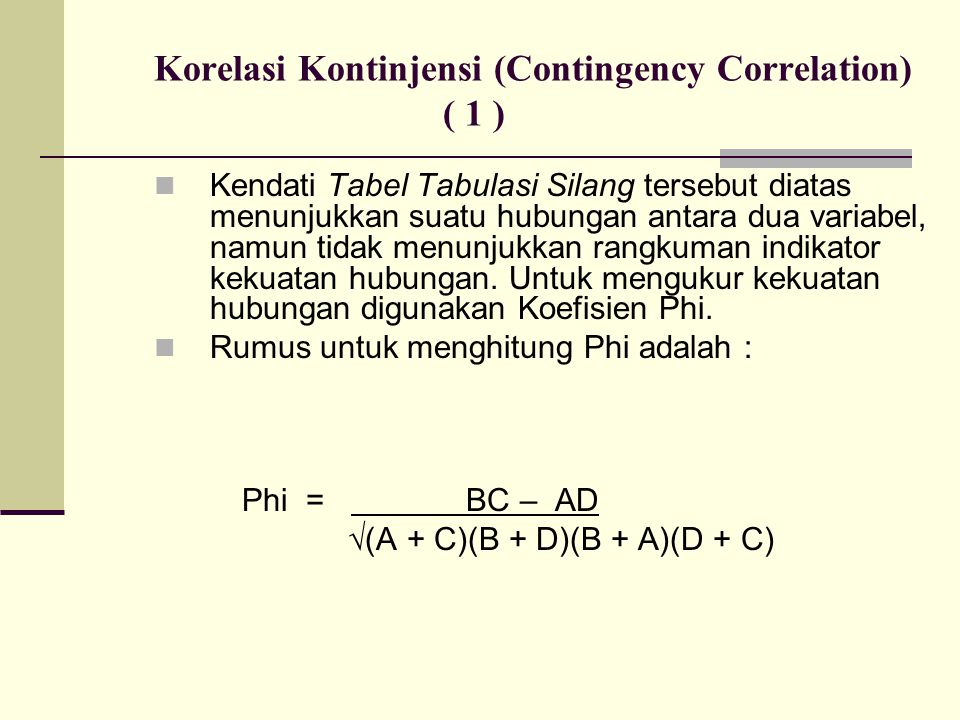 Korelasi Kontinjensi (Contingency Correlation) ( 1 )