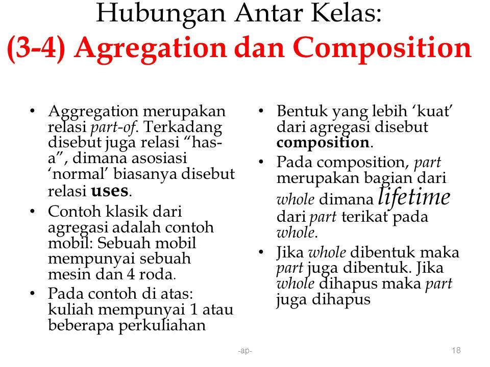 Hubungan Antar Kelas: (3-4) Agregation dan Composition