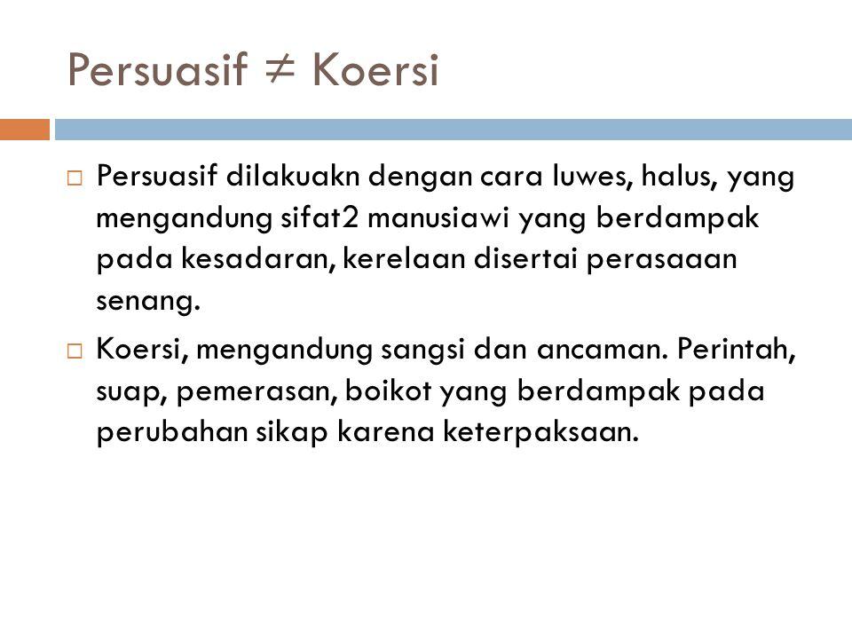Persuasif ≠ Koersi