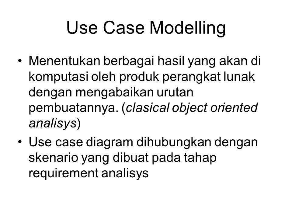 Use Case Modelling