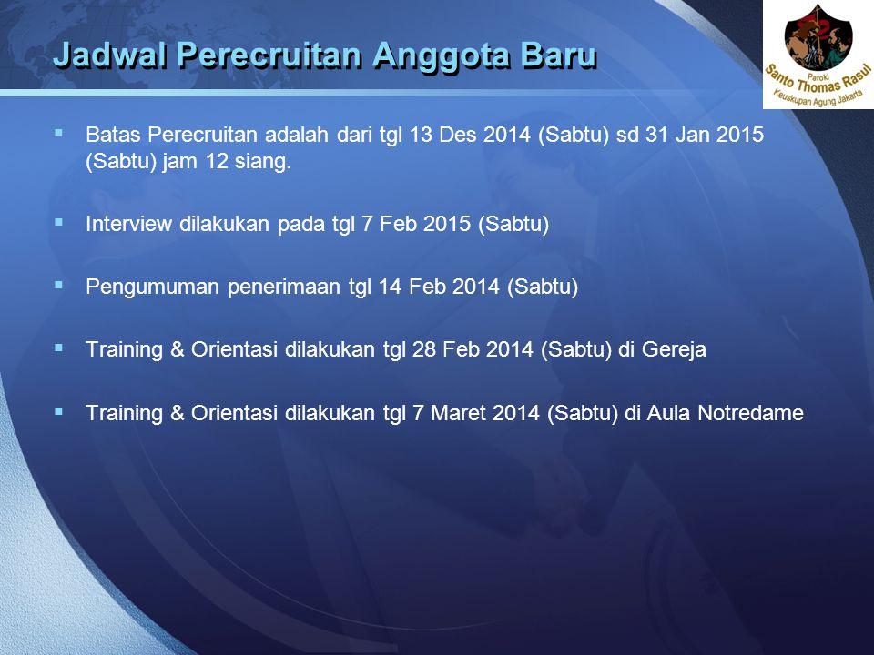 Jadwal Perecruitan Anggota Baru