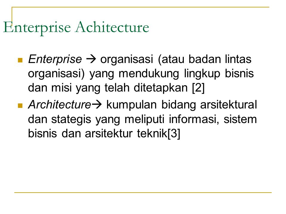 Enterprise Achitecture
