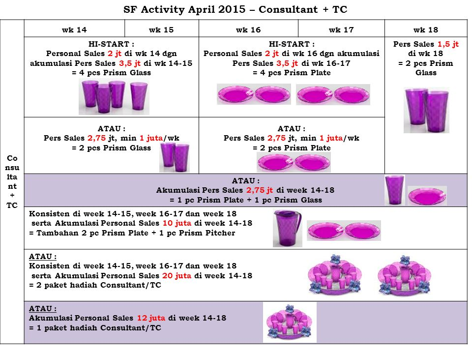 SF Activity April 2015 – Consultant + TC