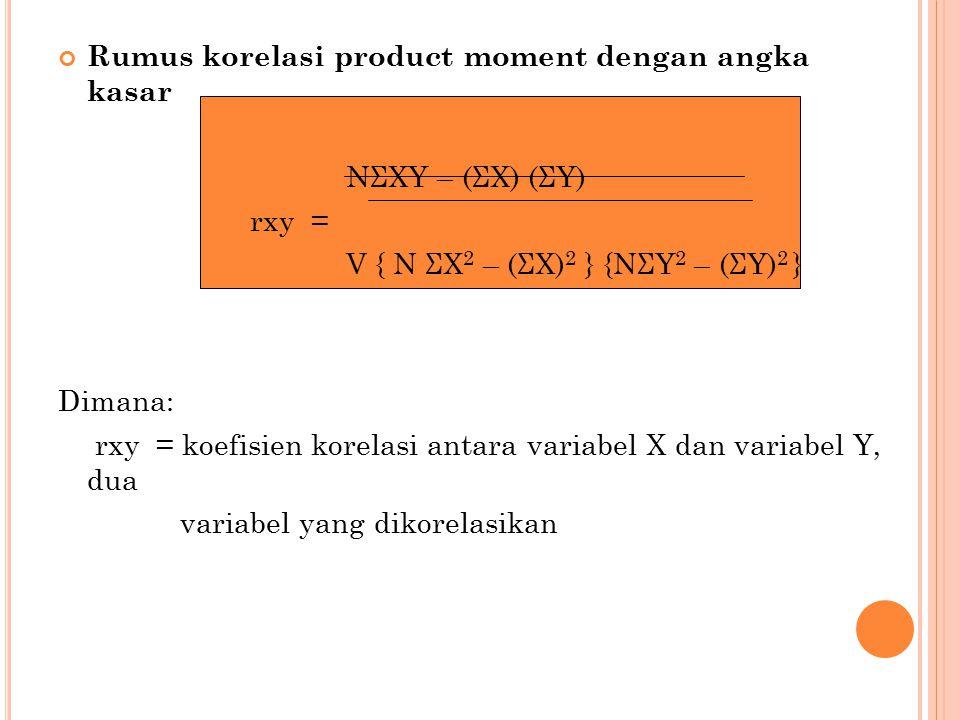 Rumus korelasi product moment dengan angka kasar
