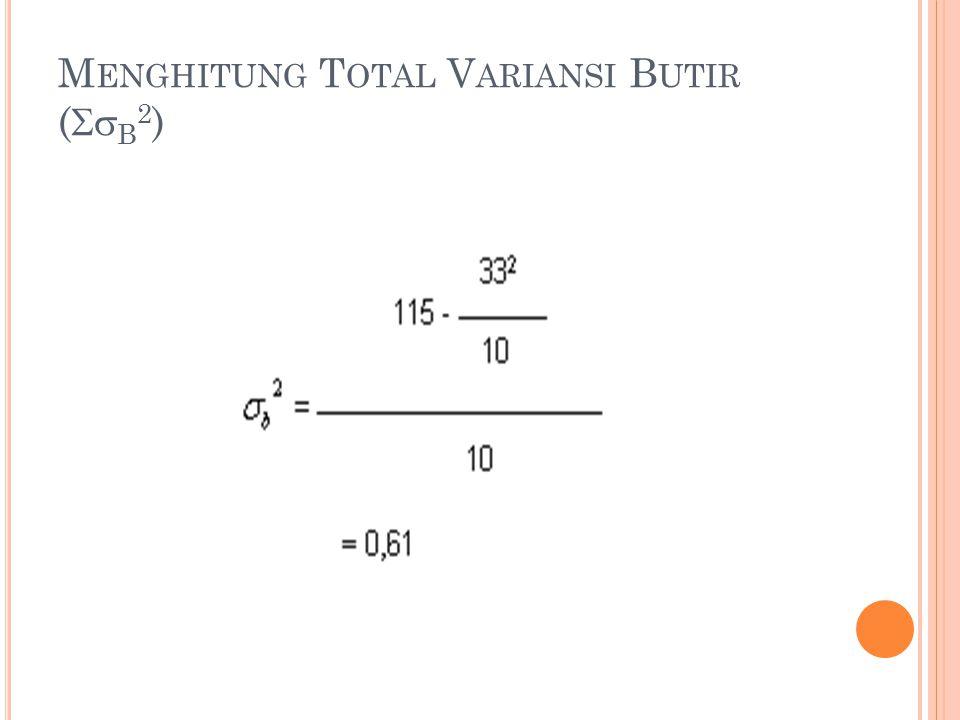 Menghitung Total Variansi Butir (b2)
