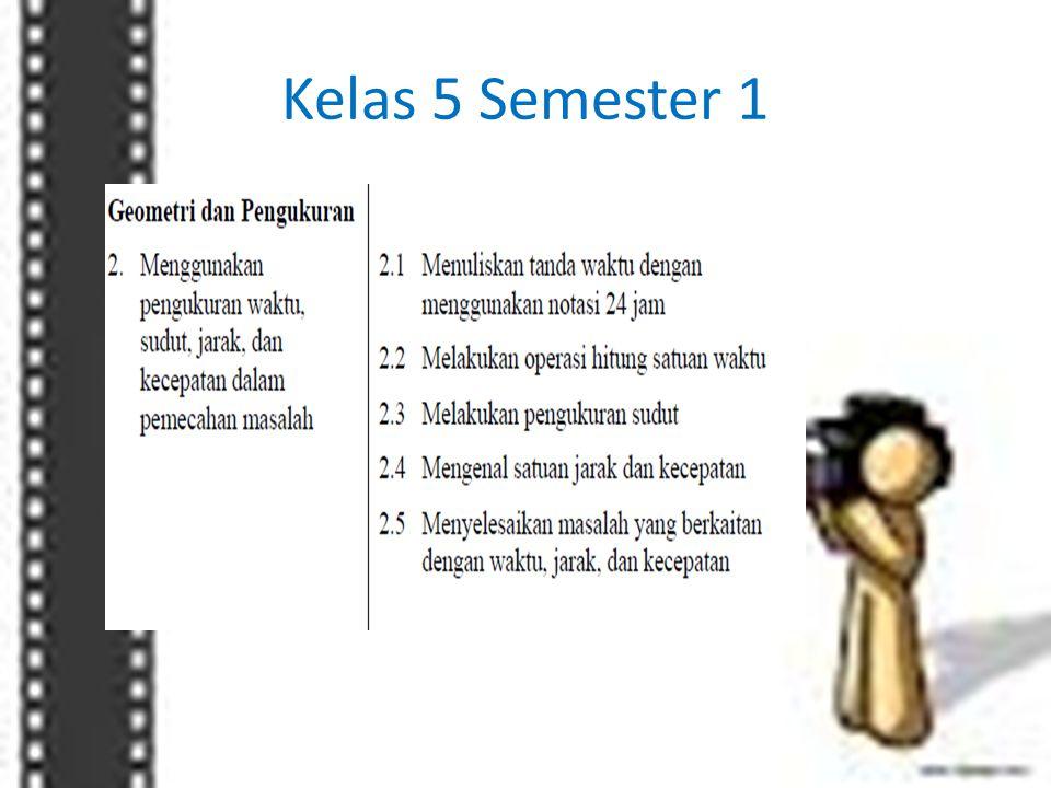 Kelas 5 Semester 1