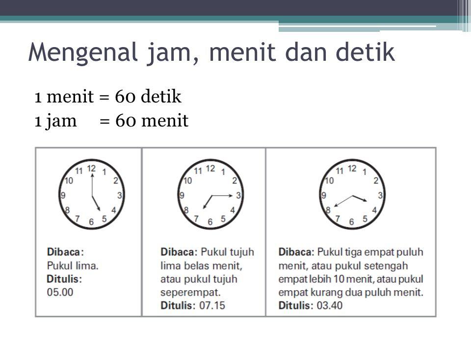 Mengenal jam, menit dan detik