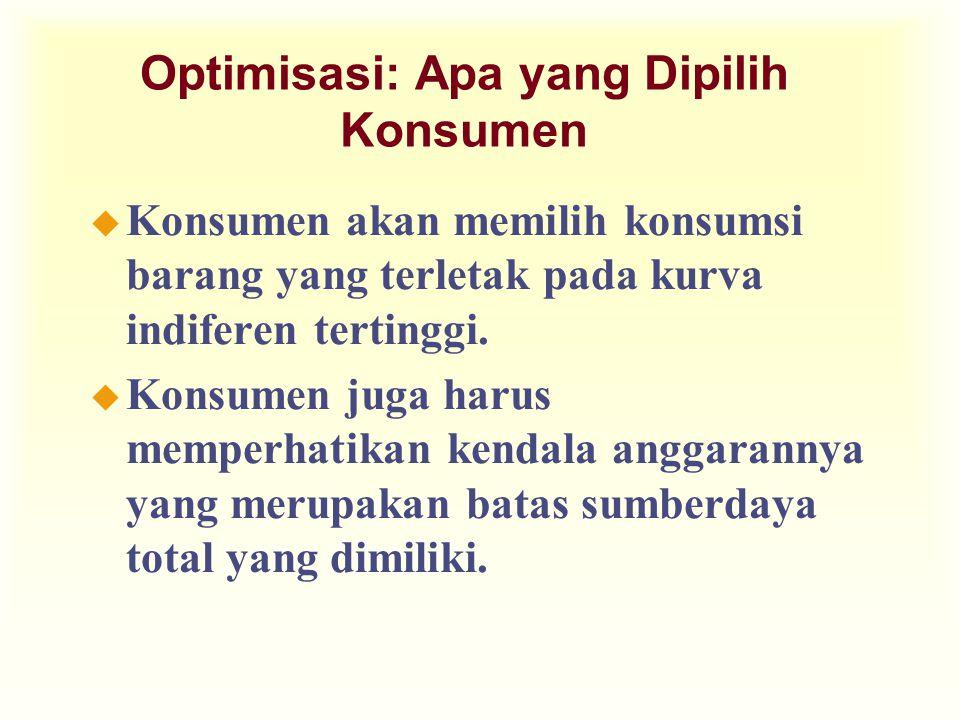 Optimisasi: Apa yang Dipilih Konsumen