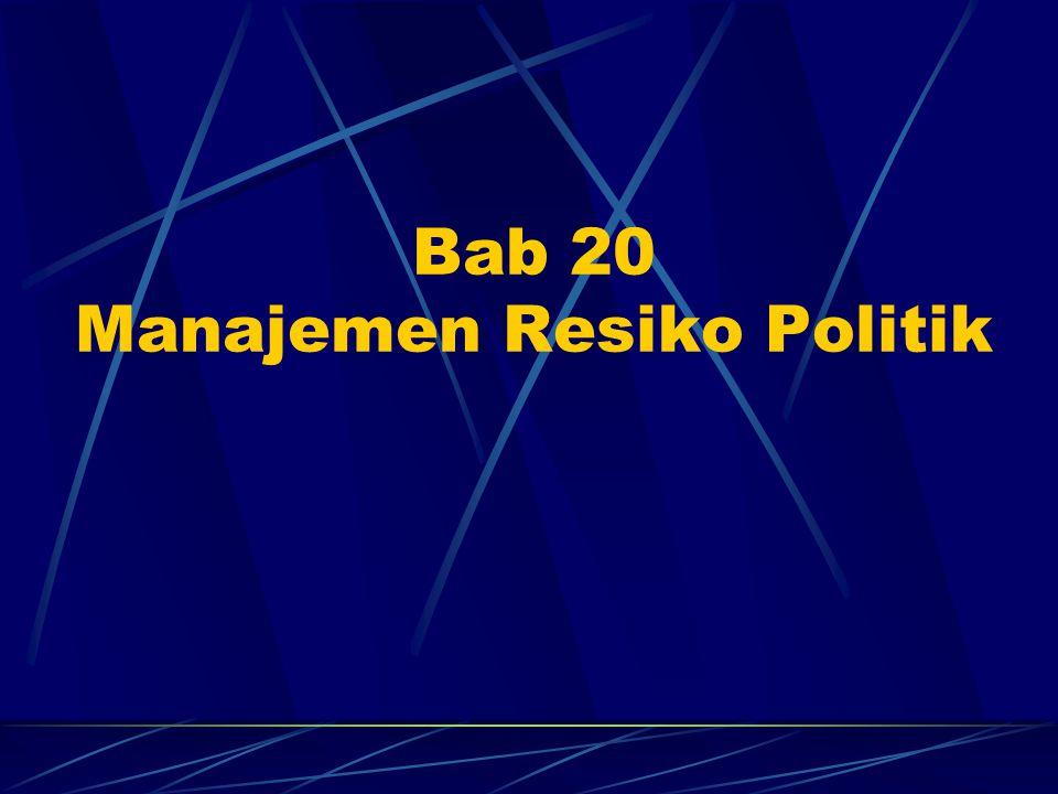 Bab 20 Manajemen Resiko Politik