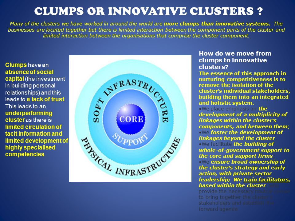 CLUMPS OR INNOVATIVE CLUSTERS