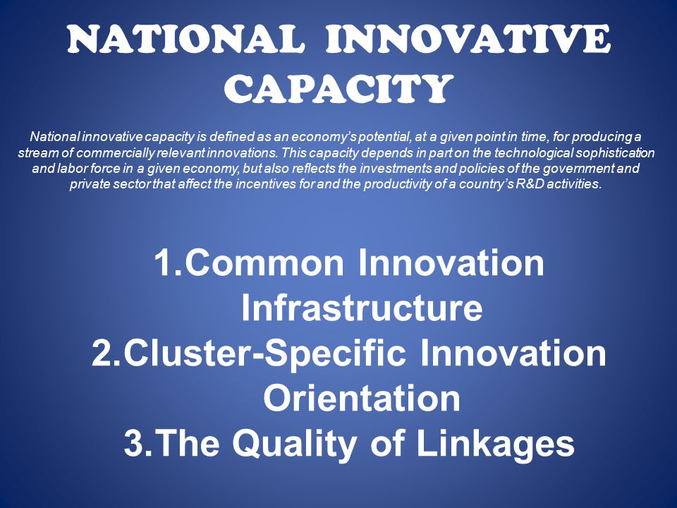 NATIONAL INNOVATIVE CAPACITY