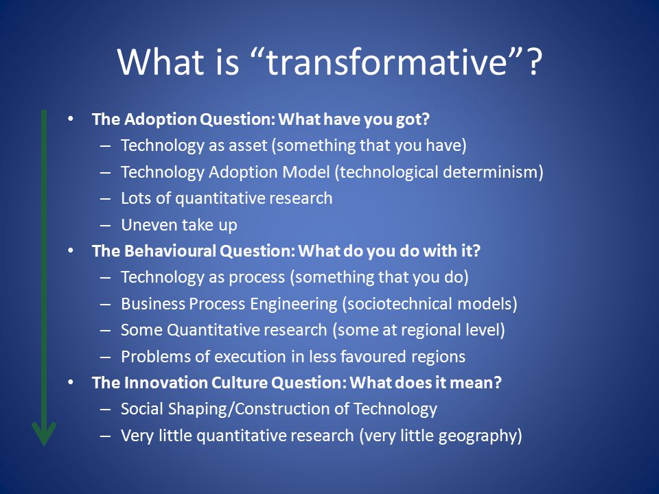 What is transformative