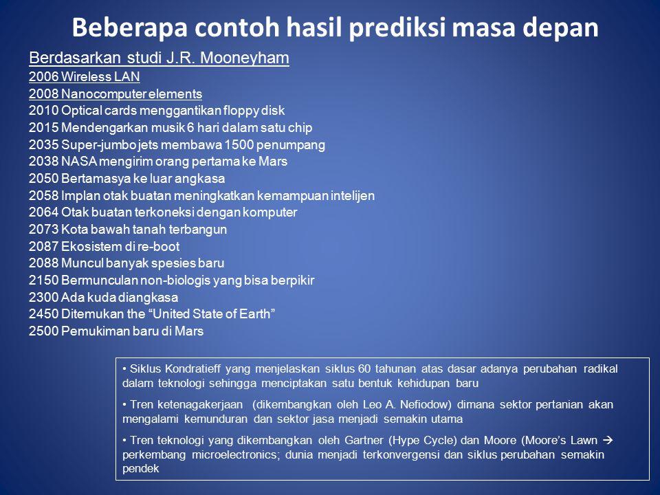 Beberapa contoh hasil prediksi masa depan