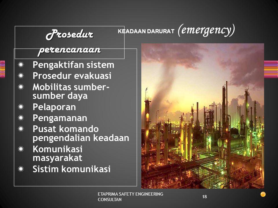 KEADAAN DARURAT (emergency)