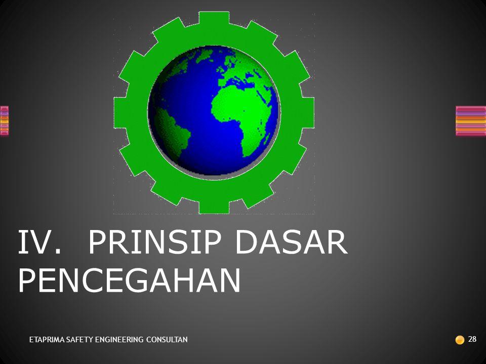 IV. PRINSIP DASAR PENCEGAHAN
