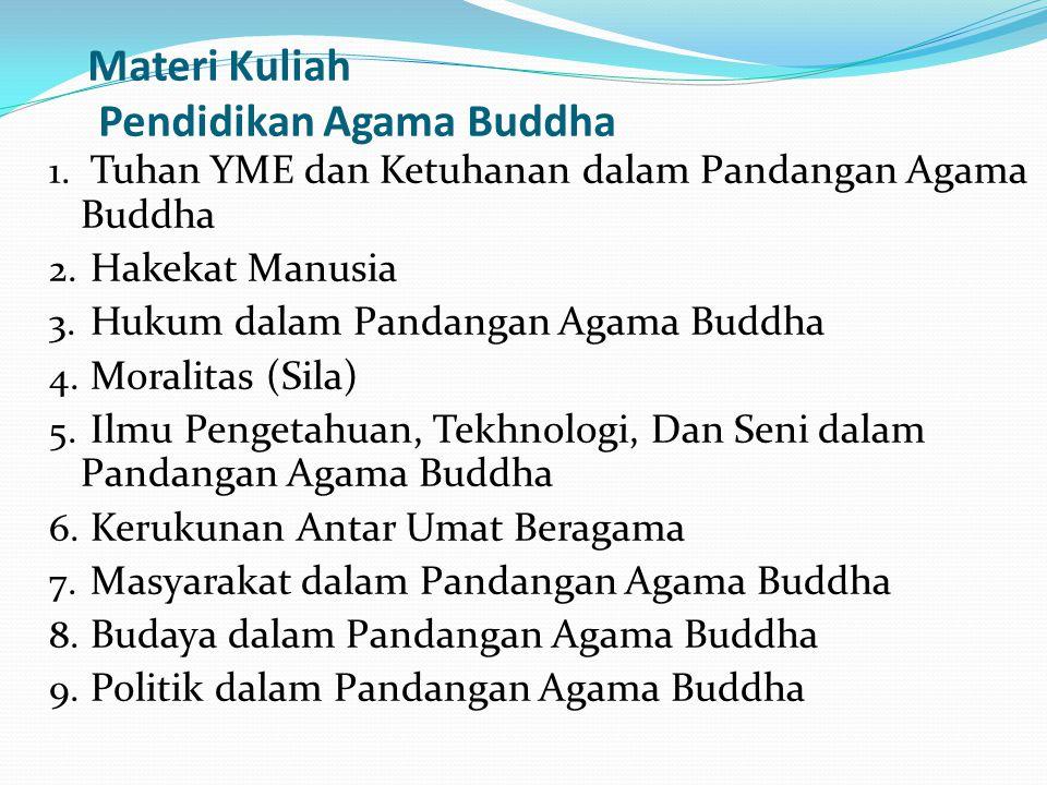 Materi Kuliah Pendidikan Agama Buddha