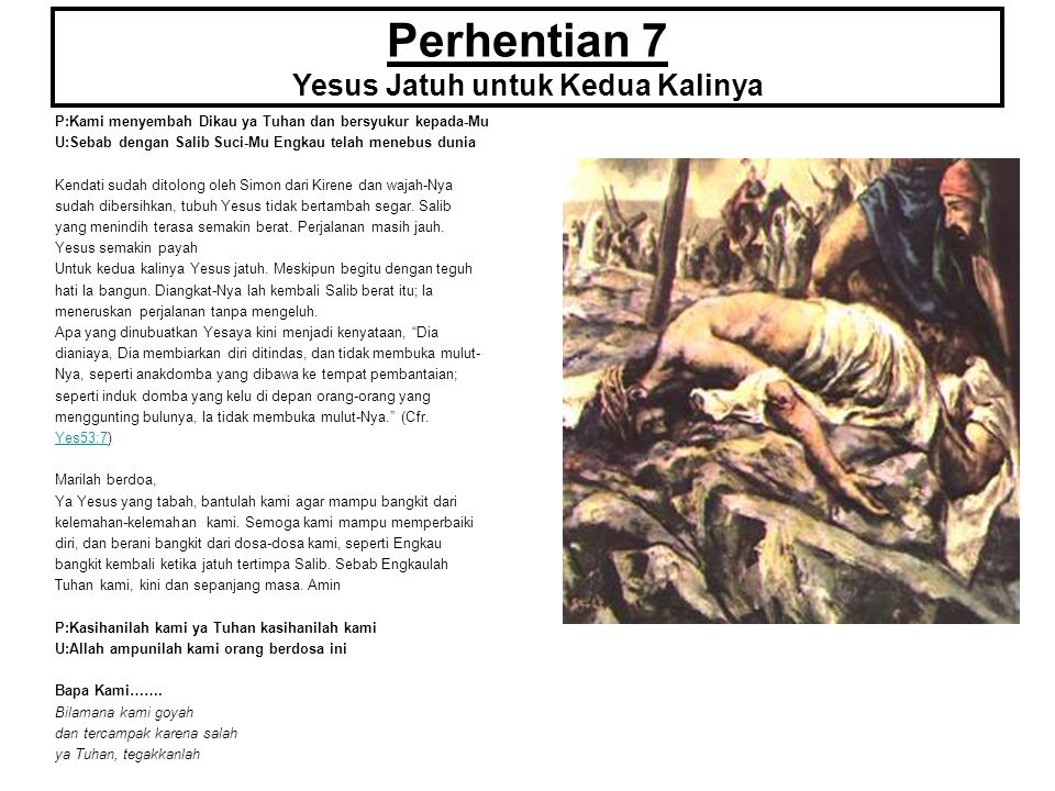Perhentian 7 Yesus Jatuh untuk Kedua Kalinya