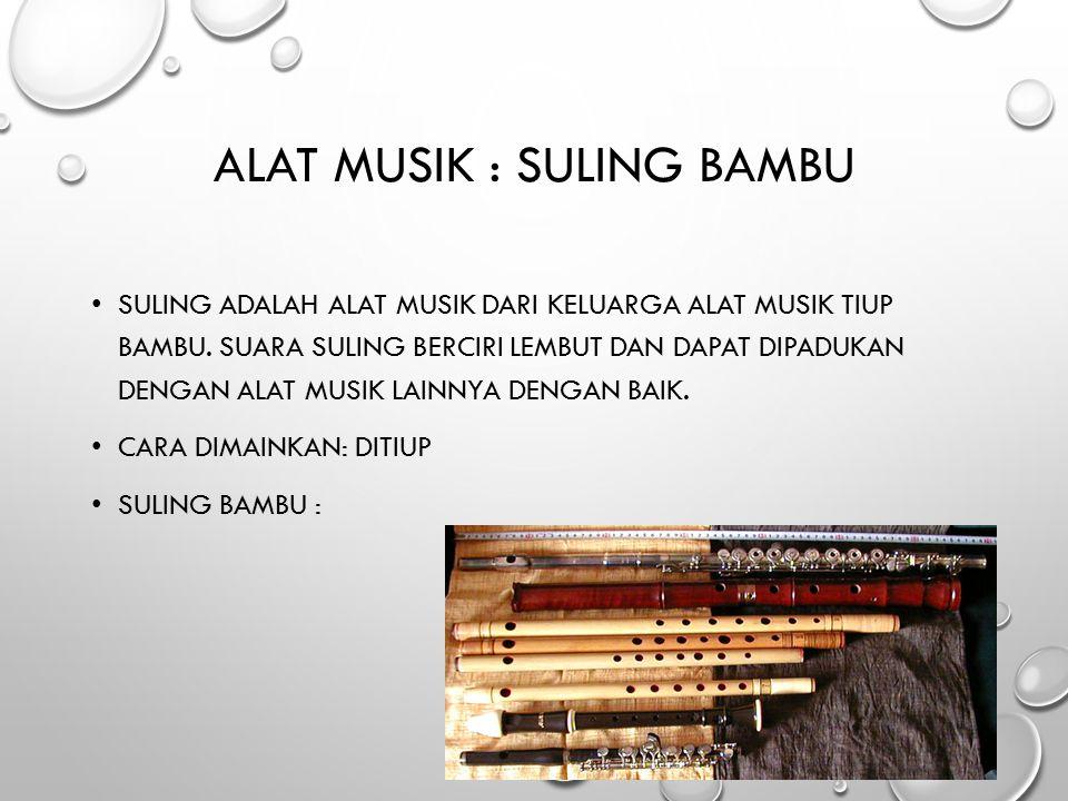 Alat Musik : Suling Bambu