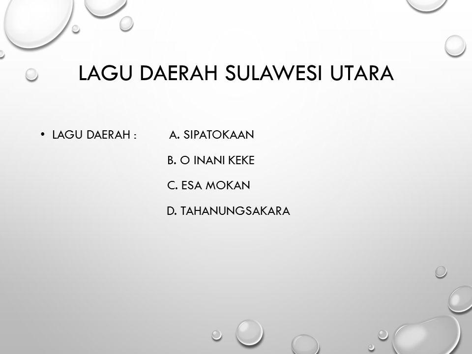 Lagu daerah Sulawesi Utara