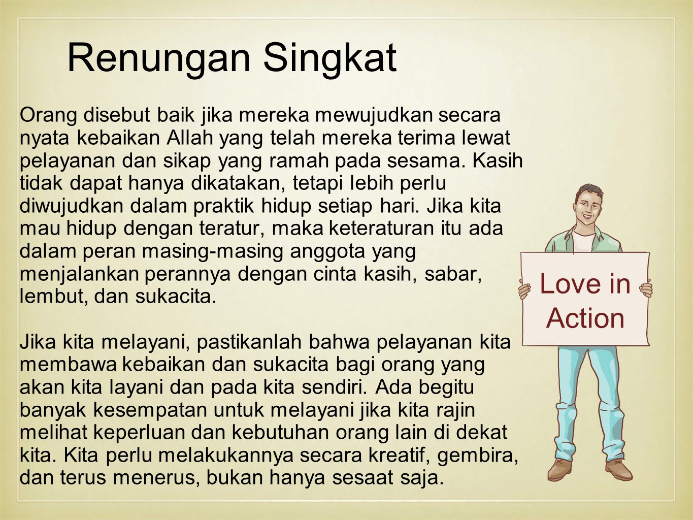 Renungan Singkat Love in Action