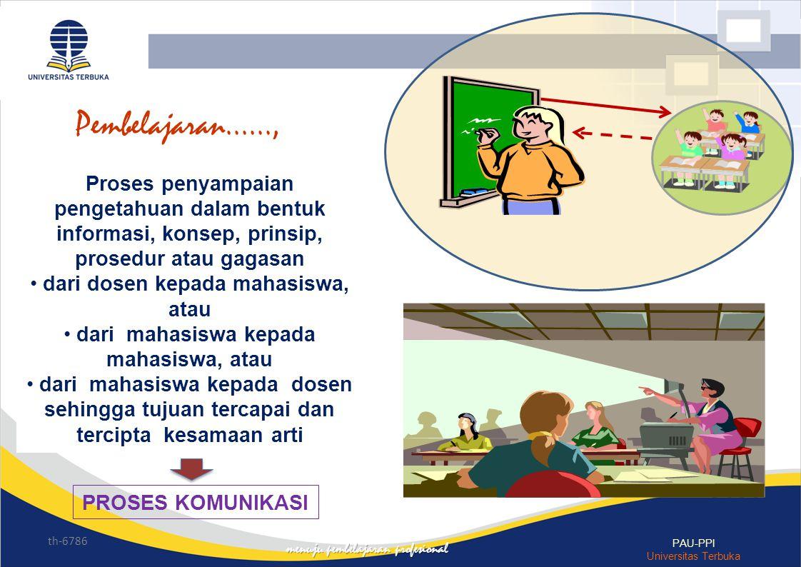 Pembelajaran......, Proses penyampaian pengetahuan dalam bentuk informasi, konsep, prinsip, prosedur atau gagasan.