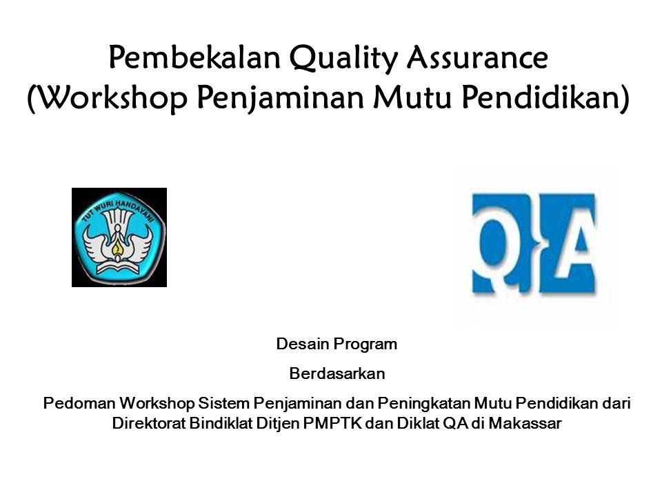 Pembekalan Quality Assurance (Workshop Penjaminan Mutu Pendidikan)