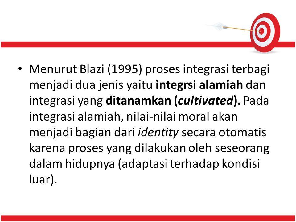 Menurut Blazi (1995) proses integrasi terbagi menjadi dua jenis yaitu integrsi alamiah dan integrasi yang ditanamkan (cultivated).